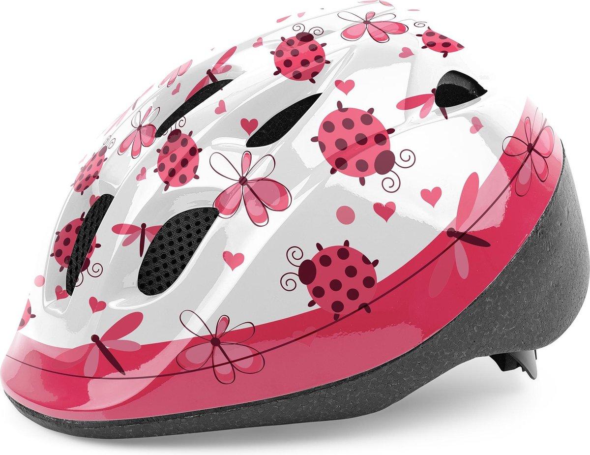Cycle Tech Kinderhelm Lieveheersbeestje Roze/wit Maat 46-53 Cm