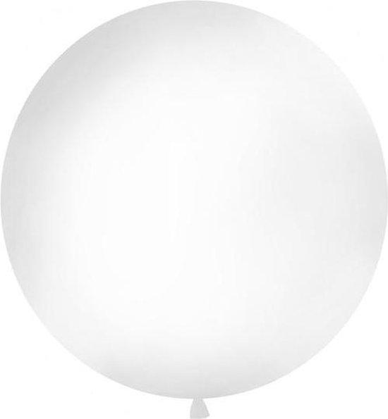Reuzeballon wit | 1 meter groot