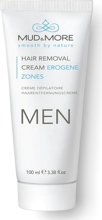 Mud & More Men Hair Removal Cream Erogene Zones 100 ml - Mud & More