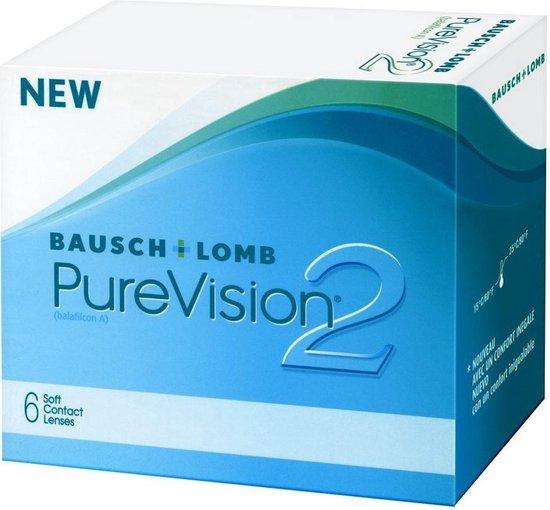+6,00 - PureVision®2 - 6 pack - Maandlenzen - Contactlenzen