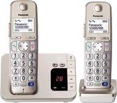 Panasonic KX-TGE222 - Duo DECT telefoon - Antwoordapparaat - Goud