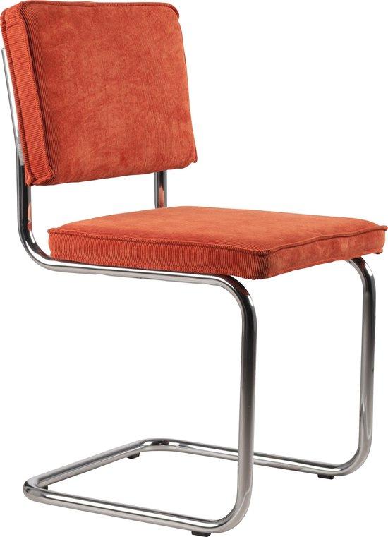 Zuiver Ridge Rib Eetkamerstoel - Oranje