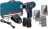 Bosch Professional Accu schroefboormachine GSR 12V-15 (2x 2,0Ah + lader AL 1115 CV + 39 accessoires + toolbag)