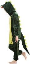 Groene Draak Onesie Verkleedkleding - Volwassenen & Kinderen - XL (175-195 cm)