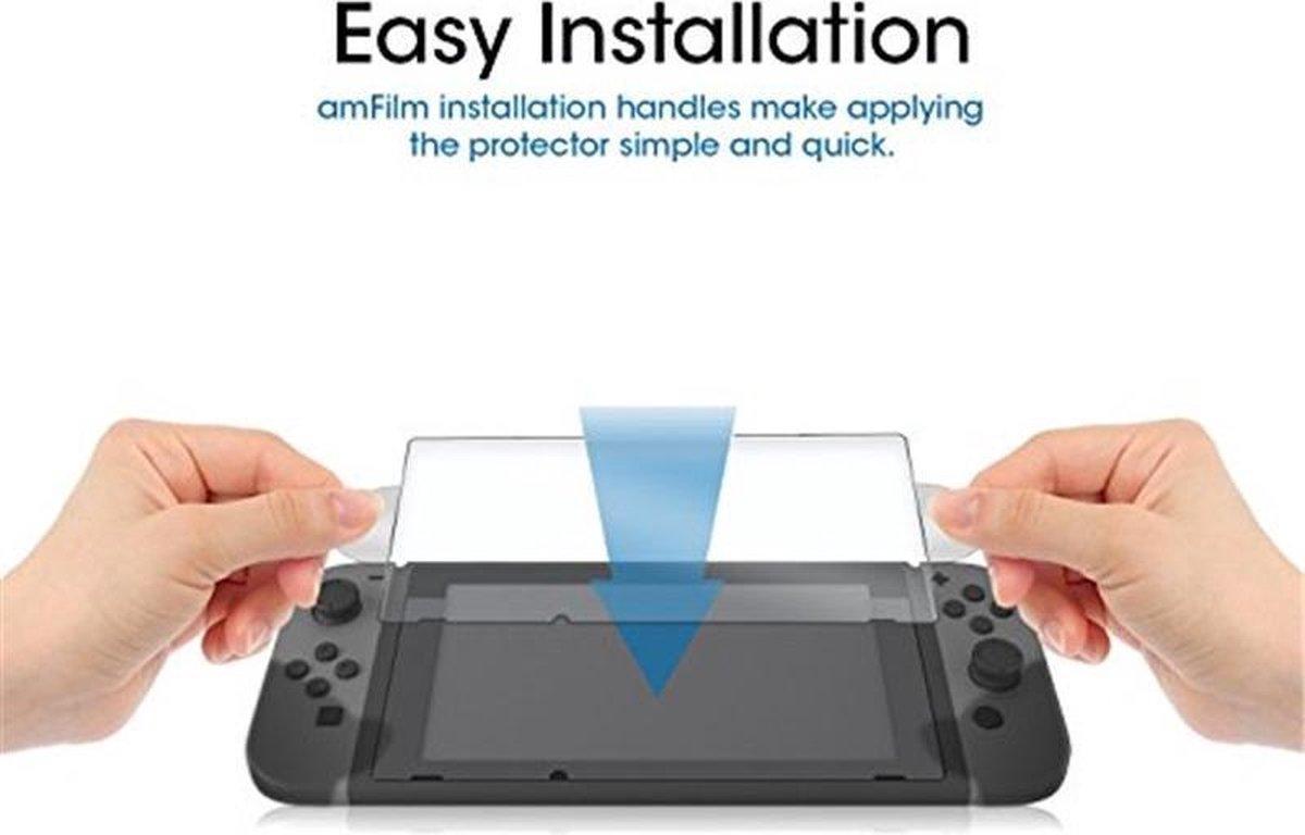 Voor de Nintendo Switch screen protector gehard glas - Solid