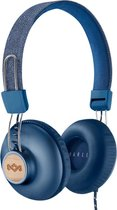 House of Marley Positive Vibration 2 koptelefoon - hoofdtelefoon met microfoon en 1knopsbediening - blauw
