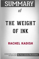 Summary of The Weight of Ink by Rachel Kadish