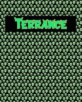 120 Page Handwriting Practice Book with Green Alien Cover Terrance