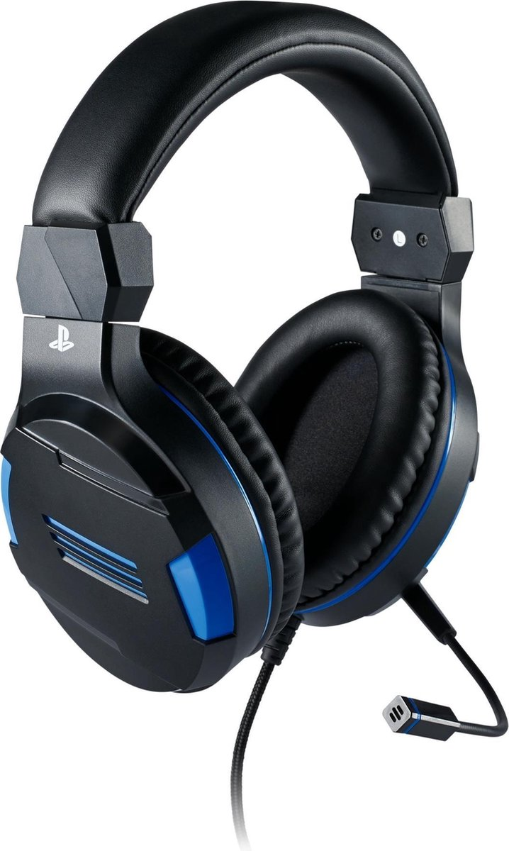 Official Licensed Playstation 4 Stereo Gaming Headset - PS4 - Zwart/Blauw - Bigben