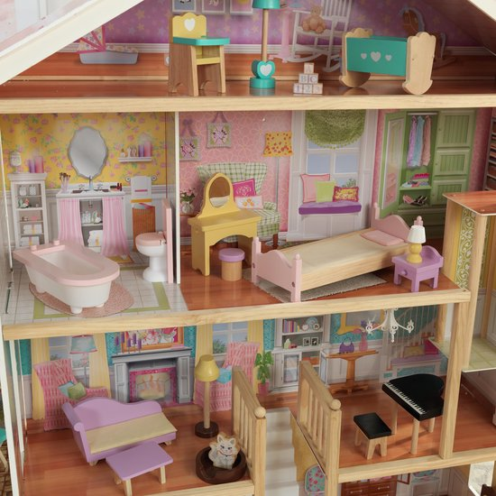 KidKraft Grand View Mansion Poppenhuis met gemakkelijke EZ Kraft Assembly™ - KidKraft