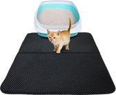 Dubbellaags Kattenbak Mat met Opvangzak voor Kattengrint - 50x40 cm