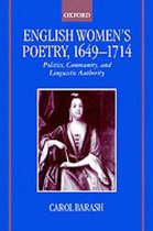 English Women's Poetry, 1649-1714