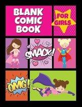 Blank Comic Book for Girls
