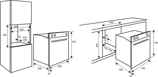 Inventum IMC6044GK - Inbouw combi magnetron