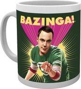 The Big Bang Theory Sheldon Bazinga Mok Beker