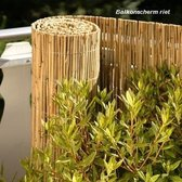 Balkonscherm van riet