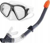 Intex Snorkelset Reef Rider Zwart 2-delig