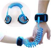 2,5 Meter Blauw Polsband Riem Kinderen - Anti wegloop kindertuigje - Flexibele en Elastische Looplijn Peuter