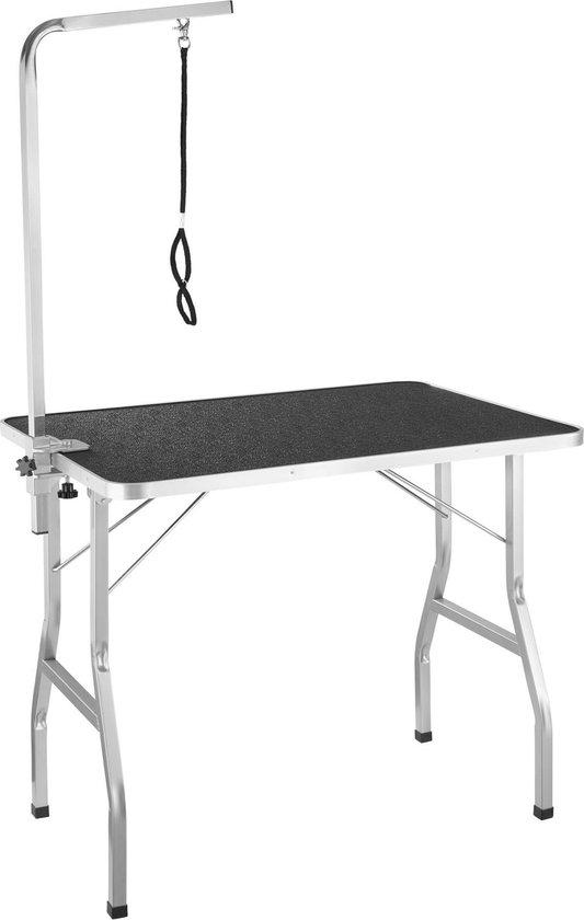 tectake- Trimtafel met lus - tafelhoogte: 76 cm - zwart / grijs - 402892