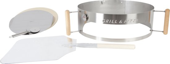 BBQPIZZA4YOU Grill- & Pizzaring Deluxe Set Aluminium