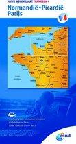 ANWB wegenkaart - Frankrijk 4 Normandie,Picardië,Parijs
