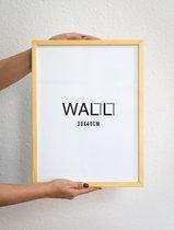 Houten Fotolijst - 30x40cm - Wissellijst - WALLLL