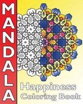 Happiness Mandala Coloring