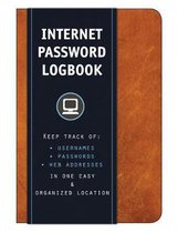 Internet Password Logbook (Cognac Leatherette): Keep track of