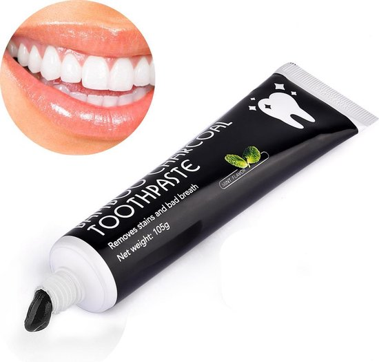 Houtskool tandpasta voor wittere tanden / Teeth Whitening
