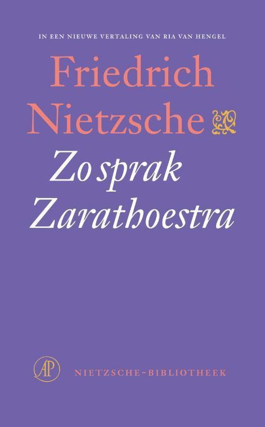 Boek cover Zo sprak Zarathoestra van Friedrich Nietzsche (Onbekend)