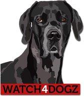 Duitse Dog sticker (set van 2 stickers)