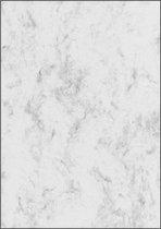 Designpapier Sigel A4 90grs - marmer grijs pak 25 vel