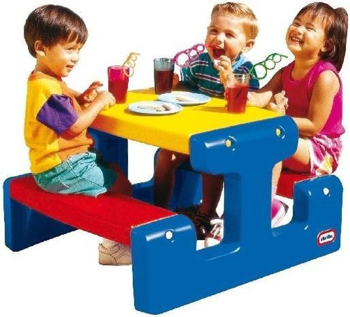 Little Tikes Picknicktafel Primary - kinder picknick tafel - kinder speeltoestel - speeltafel