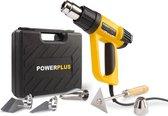 Powerplus POWX1025 Heteluchtpistool - 2000W - Incl. koffer -Incl. 4 mondstukken en schraper