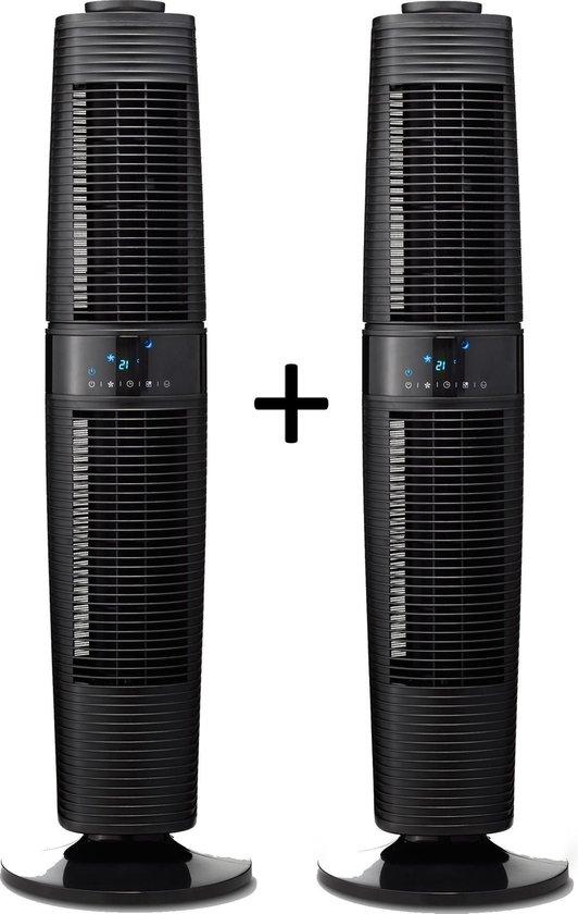 Clean Air Optima® 2 stuks CA-406B - Design Torenventilator - Ventilator met...