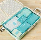 Packing cubes set - koffer of tas organizer - inpak zakken - lichtblauw