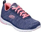 Skechers Flex Appeal 3.0-Insiders Sneakers Dames - Navy Coral - Maat  37
