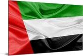 De vlag van de Verenigde Arabische Emiraten Aluminium 120x80 cm - Foto print op Aluminium (metaal wanddecoratie)