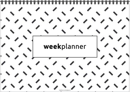 Weekplanner - De planner voor de hele week! - Minimalistisch - Zwart/Wit