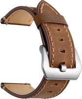 Bandje kalfsleer bruin geschikt voor Samsung Galaxy Watch 46mm