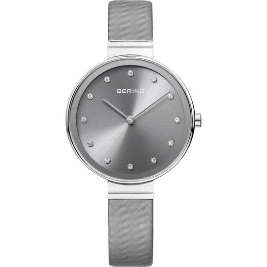 BERING 12034-609 – Horloge – Satijn/leer – Zilverkleurig – Ø 34 mm