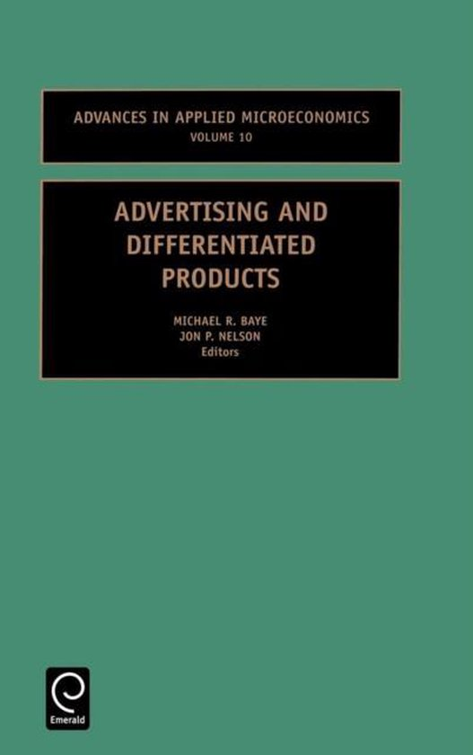 Boek cover Advertising and Differentiated Products van Baye M. R. Baye (Hardcover)