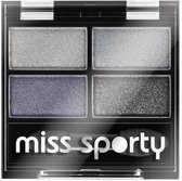 Miss Sporty Studio Colour Quattro Eye Shadow - 401 Smoky Blue Eyes - Oogschaduw