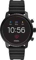 Fossil Q Explorist HR Smartwatch Roestvrijstaal GPS - Zwart