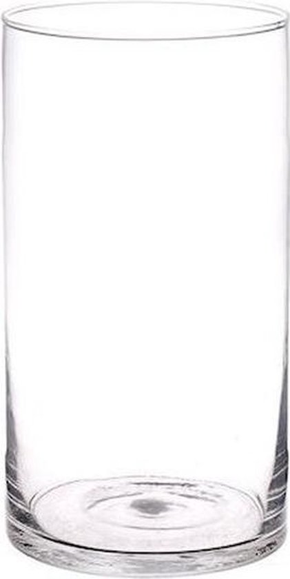 Rechte cilinder vaas glas 30 cm