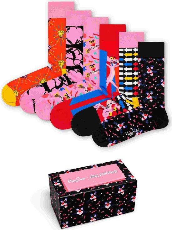 Happy Socks Unisex Sokken Pink Panther Gift Box Set van 6 Grotte 36-40
