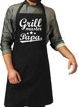 Grillmaster papa cadeau bbq/keuken schort heren -  kado schort voor vaders