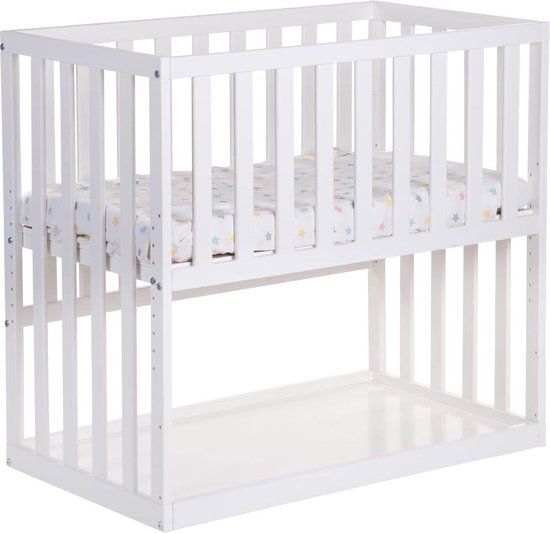 Product: Childhome Bedkant Wieg - 50x90cm - Wit, van het merk Childhome