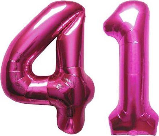 Cijfer 41 Magenta Helium 86 cm Excl. helium