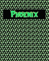 120 Page Handwriting Practice Book with Green Alien Cover Phoenix
